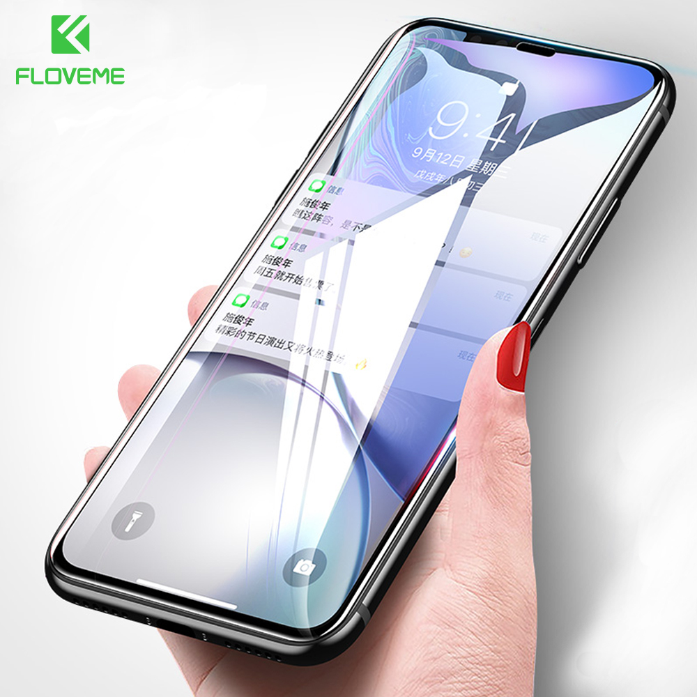 FLOVEME Tempered Glass For iPhone XS Max Screen Protector Fl