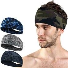 Лайкровая впитывающая спортивная повязка на голову, Эластичный Напульсник для мужчин и женщин, повязка для волос для йоги, повязка на голову, спортивные повязки