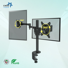 CNXD Fully Adjustable Height, Tilt, Pivot DoubleSight Dual Monitor Easy Stand Tablet Stand