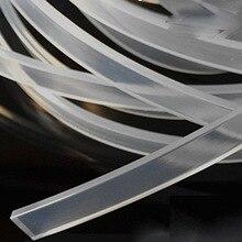 Caja de luz de Tira Del Sello de Silicona resistencia al Calor Cuadrado Plano 2/2. 5/3/3.5/4/5/6/7/8/10/12×2/2.5/3/4/10/12/15/18/20/30mm Transparente