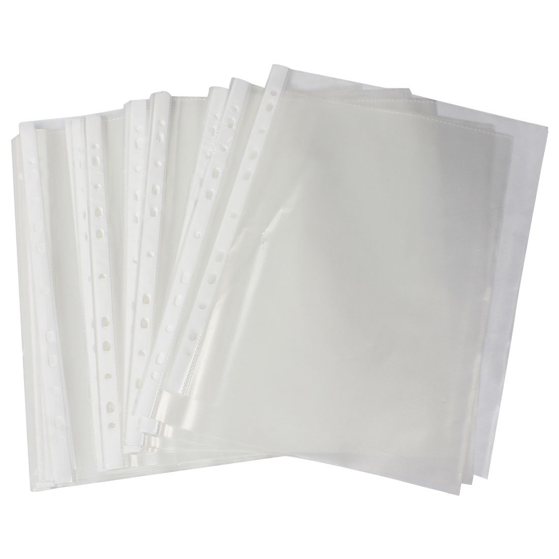 5X Office School A4 Papers Document Sheet Protector Clear White 100 Pcs