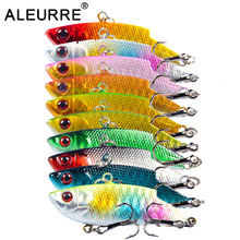 5.5cm 9g VIB Lures Hard Plastic Fishing Lure Vivid 3D EYES Spoon Bait  Isca Hard Bait Bass Minnow Crankbait VIBE Wobbler Spinner