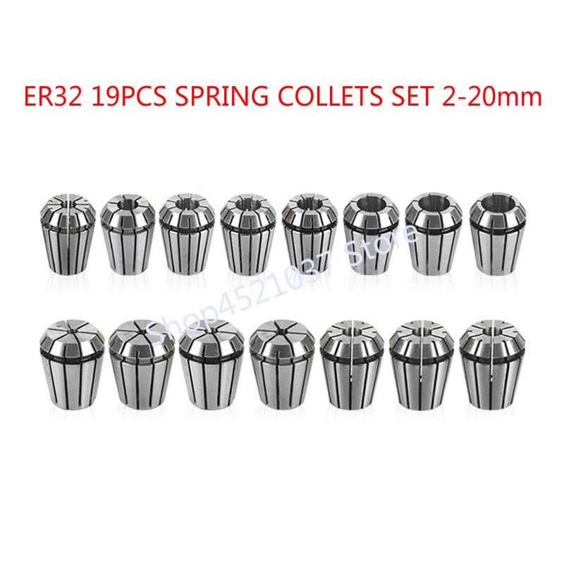 19PCS LOT ER32 SPRING COLLETS SET 2 20mm ER32 Collet