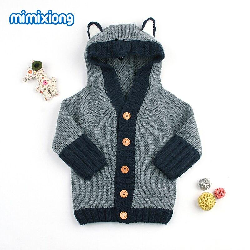 Aliexpress.com  Comprar Invierno recién nacido niños suéteres Cardigans  ropa Fox lindo punto niñas abrigos punto gris infantil con capucha chaquetas  de ... 18d7f52c3ae2