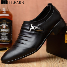 Wedding-Shoes Formal-Shoes Italian Ayakkab Boots Dress Coiffeur Office White Mens Brand