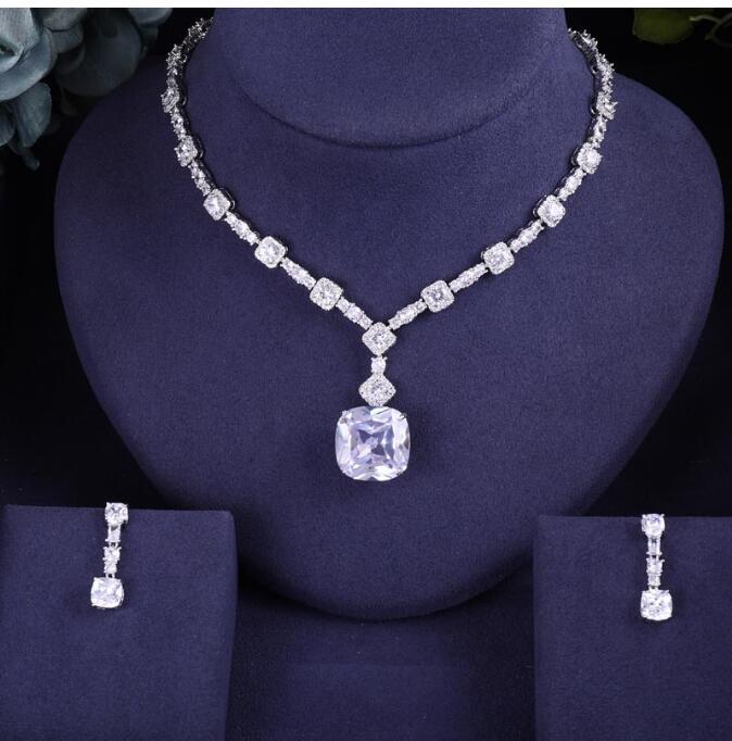 ACCKING Luxury Bridal full Cubic Zirconia Necklace Heart For Women Luxury Dubai African CZ Stone Wedding Jewelry SetsACCKING Luxury Bridal full Cubic Zirconia Necklace Heart For Women Luxury Dubai African CZ Stone Wedding Jewelry Sets