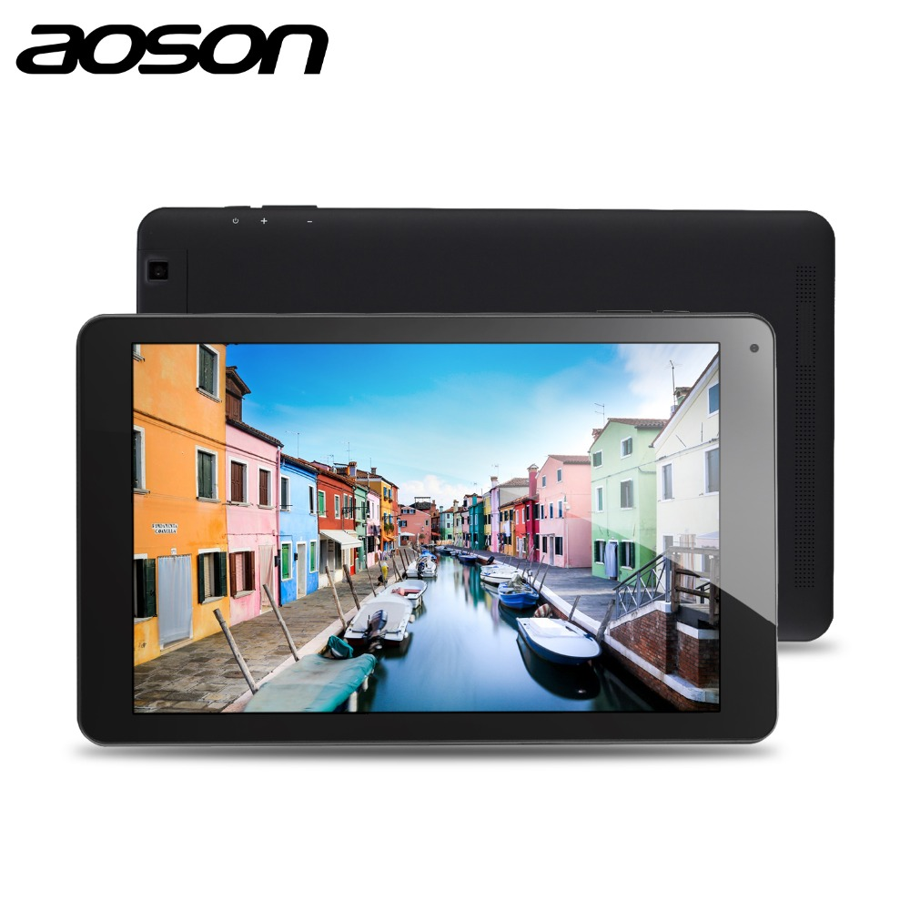 GPS AOSON R101 10.1 inch android Tablet 2GB RAM 16GB ROM Android 6.0 wifi netbook Quad Core IPS 1280x800 Dual Camera 10