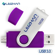LEIZHAN Android Pendrive USB 3.0 Micro U Disk 32gb OTG USB Flash Drive 64gb Pen Drive 8GB USB Stick Memory Stick 16GB USB Stick стоимость