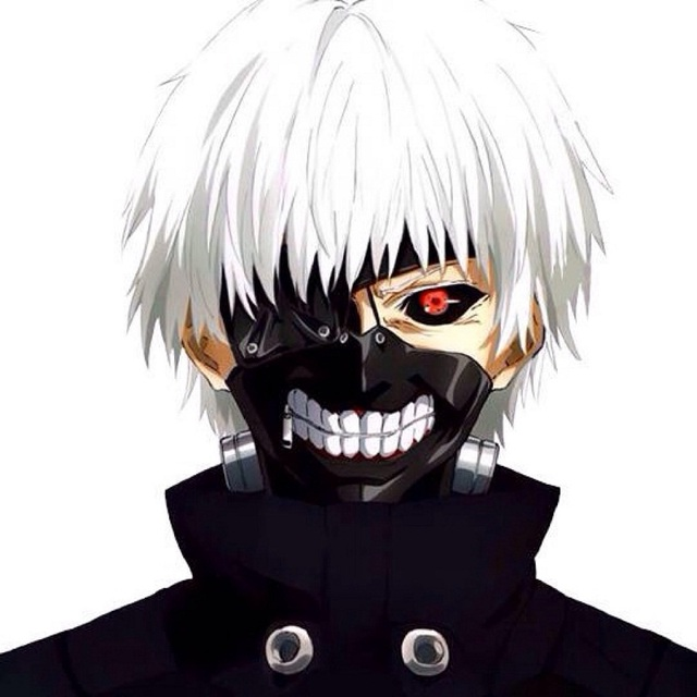 Tokyo Ghoul Ken Kaneki Black Leather Mask W Metal Wig For Anime Cosplay Party Ebay