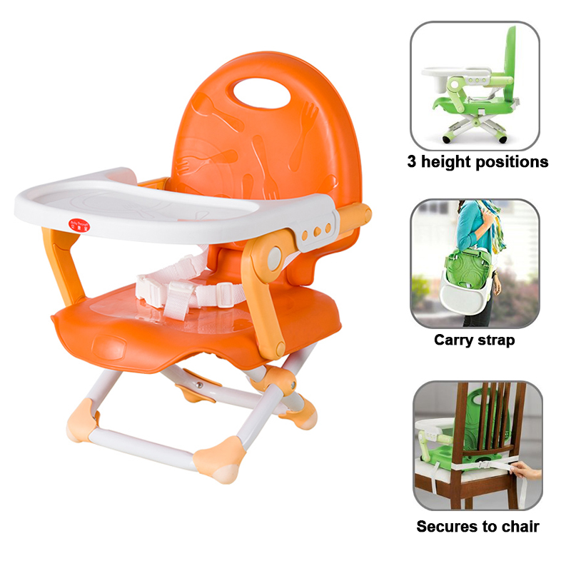 Baby Throne Adjustable Baby Highchair Babies and Toddlers Dining Chair Pocket Snack Booster Seat With Tray