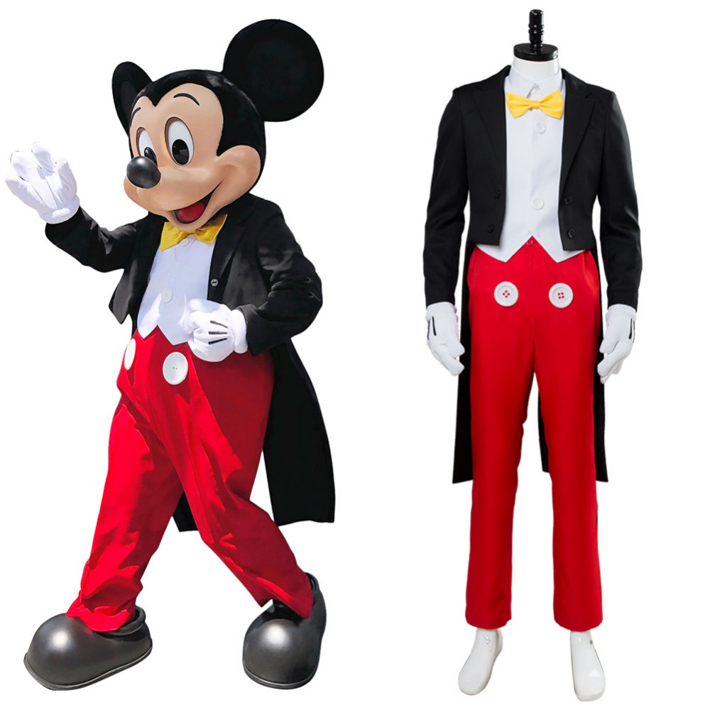 Confident Mickey Mouse Cosplay Costume Adult Men Tuxedo Dinner Full Suit Uniform Halloween Cosplay Magician Costume Goods Of Every Description Are Available
