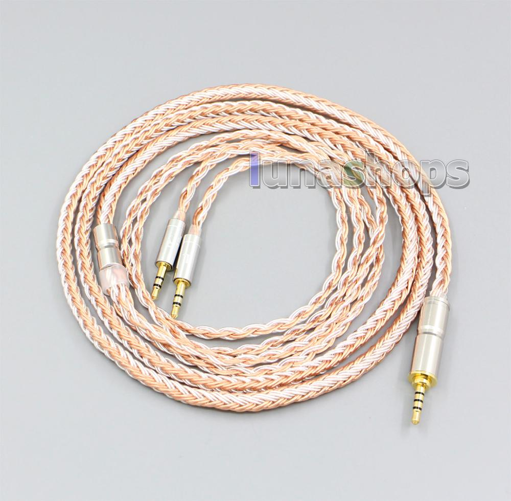 16 Cores Silver OCC Replacement Cable for Hifiman HE560 HE 350 HE1000 V2 Headphone XLR 2