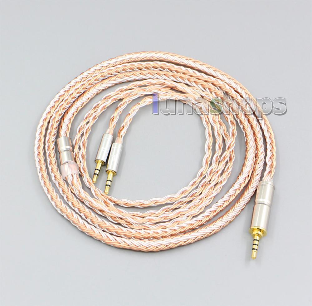 16 noyaux argent OCC câble de remplacement pour Hifiman HE560 HE-350 HE1000 V2 casque XLR 2.5mm 4.4mm 3.5mm LN006021