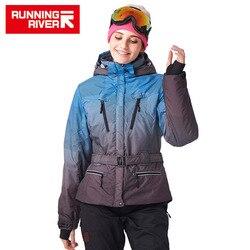 FLUSS Marke Frauen Ski Jacke Winddicht Ski Mantel Warme Ski Jacke Wasserdicht Schnee Hohe Qualität Frauen Ski Jacken # J1130
