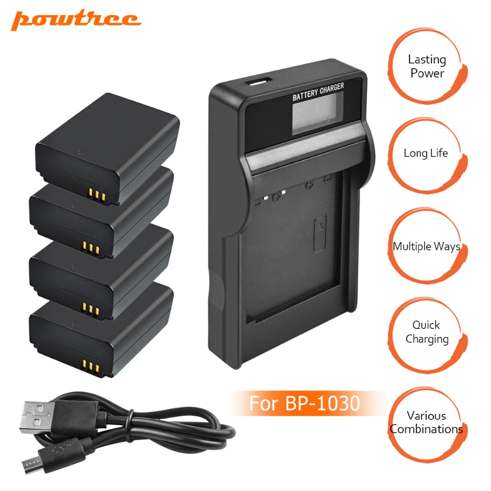 4Packs 7.2V 1400mAh BP1030 BP-1030 BP-1130 BP 1130 Battery +1Port Battery <font><b>charger</b></font> with LED for <font><b>SAMSUNG</b></font> NX200 NX210 <font><b>NX1000</b></font> L10 image