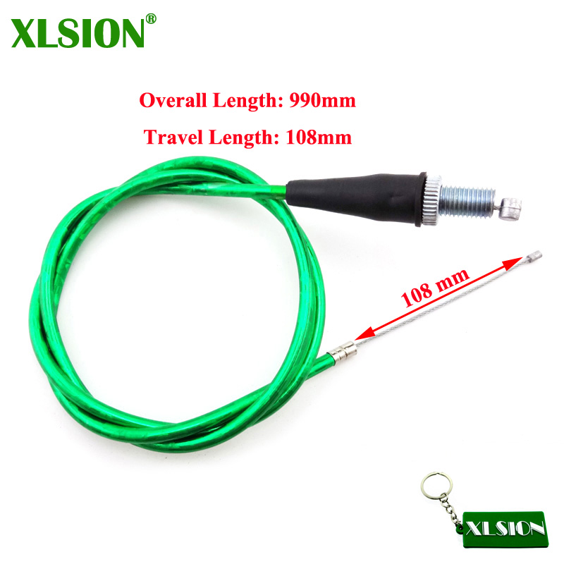 Green Throttle Cable Clutch Cable For Thumpstar KLX110 TTR SSR BBR Pit Dirt Bike