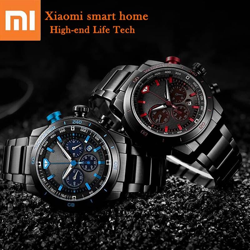Montre énergie photodynamique Xiaomi originale multi-fonction cadran calendrier 24 heures affichage 60 min chronométrage tout métal bracelet pour hommes