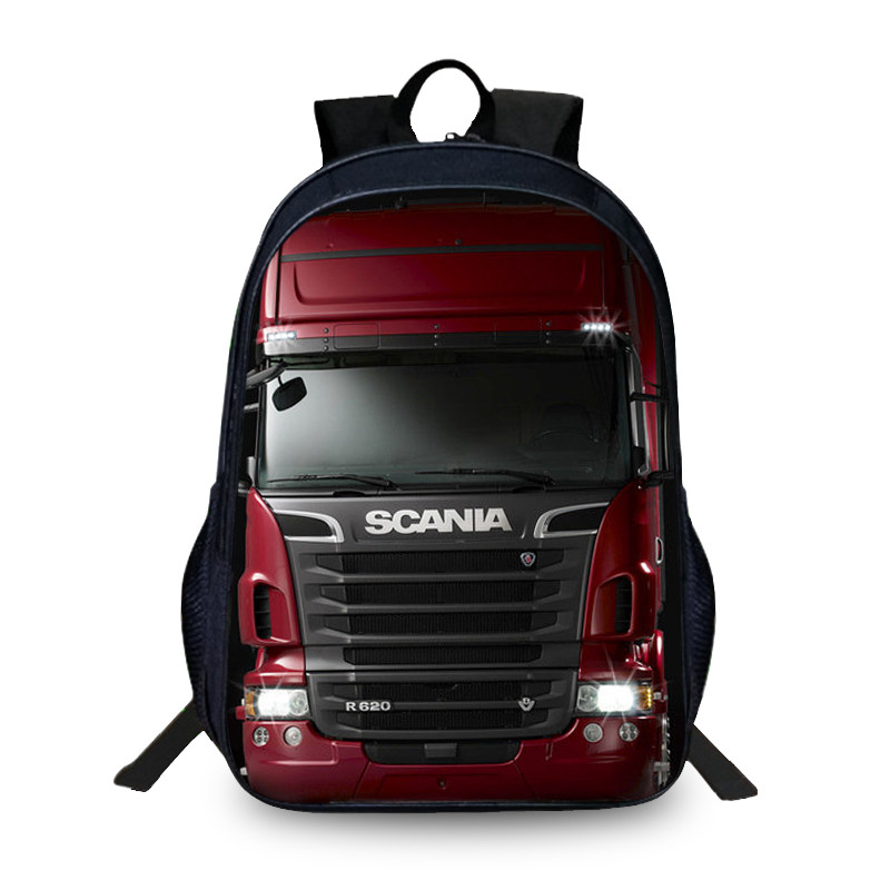 Fashion Scania Student Backpack For Notebook 3D Printing School Bags For Teenagers Men Fashion Large Capacity School Backpacks