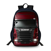 Fashion Scania Student Backpack For Notebook 3D Printing School Bags Teenagers Men Large Capacity Backpacks