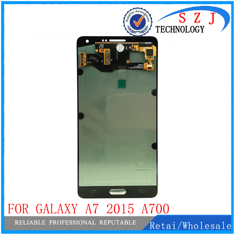 все цены на New case For Samsung Galaxy A7 2015 A700 A7000 A700H A700F A700FD LCD Display Touch Screen Digitizer Assembly Free Shipping онлайн