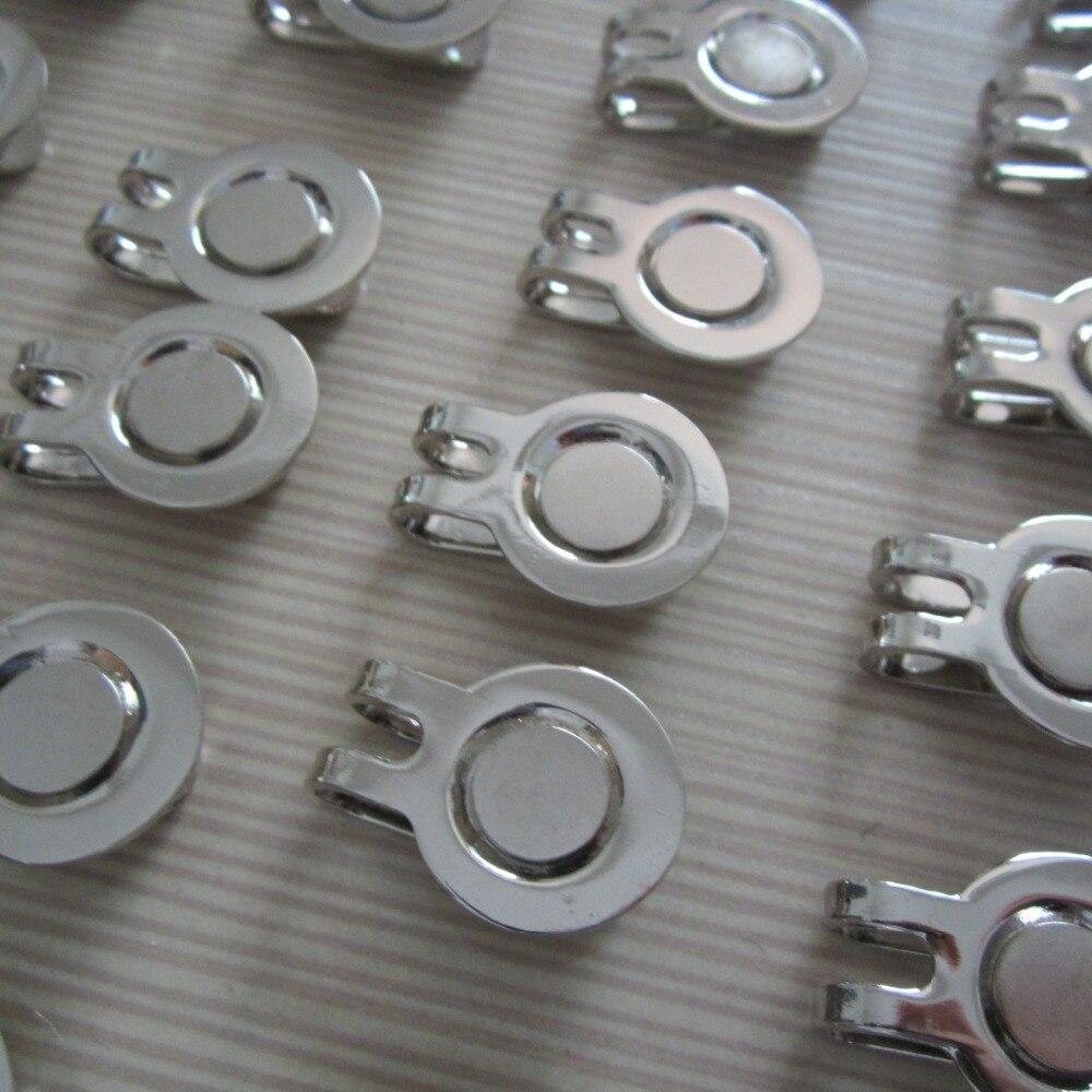 10 unids/lote magnética al por mayor de alta calidad de metal clip del sombrero