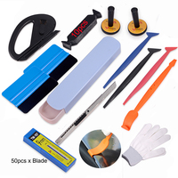 FOSHIO Auto Window Film Tint Tool Set Vinyl Car Wrap Magnet Stick Squeegee Car Sticker Magnetic Holders Vinyl Cutter Knife Blade