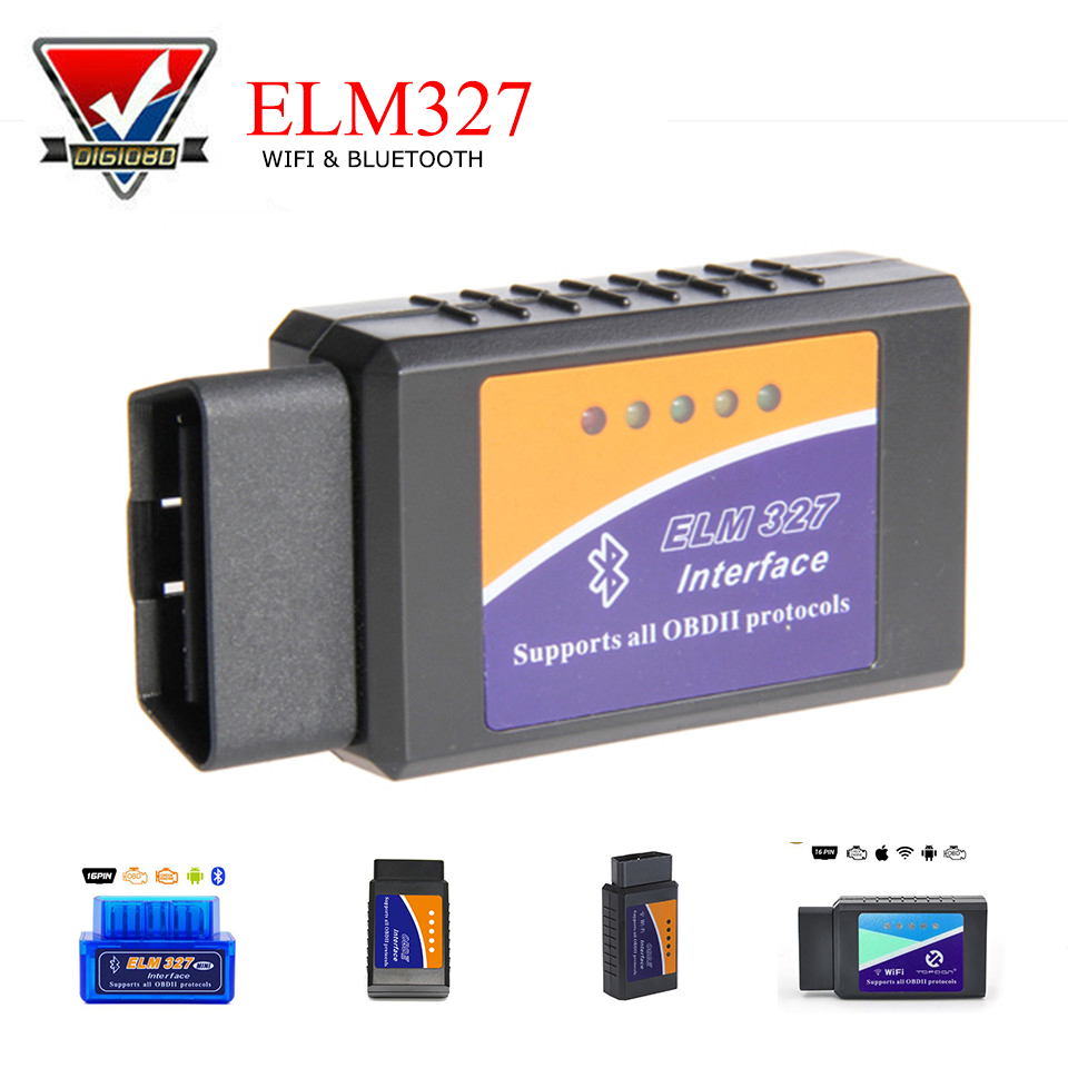 PIC18F25K80 Super Mini OBD2 ELM327 WIFI/Bluetooth V1.5 OBD 2&CAN Auto Diagnostic Hardware ELM 327 for Android/iOS Smartphone PC