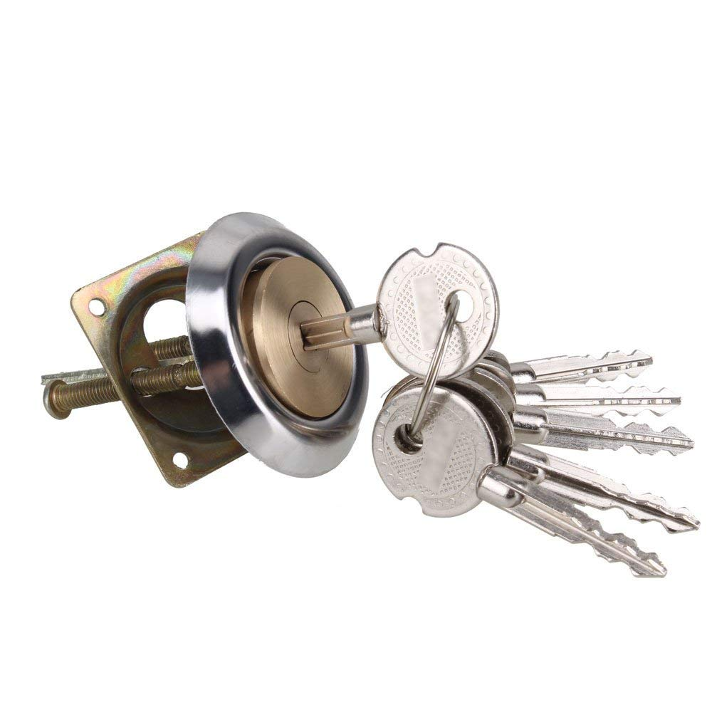 1PCS 29mm Dia Round Profile Rim Cylinder Cross Shape Keyed Door Lock Garage Hardware