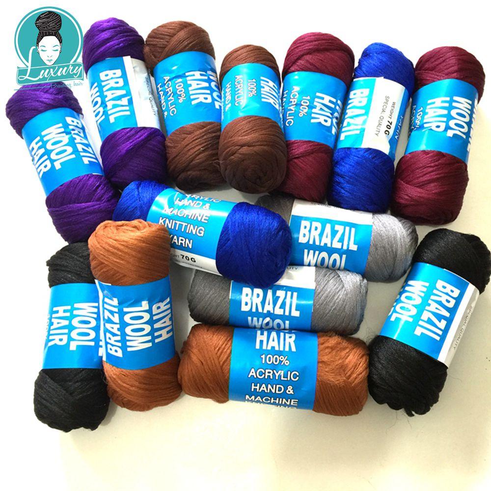 Бразильская шерсть синтетические волосы для африканских волос Плетение для дредлоков делая