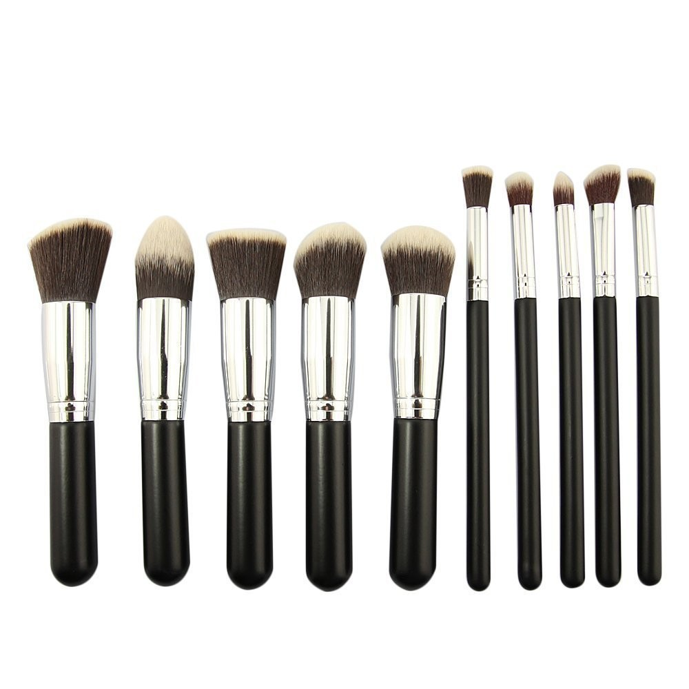 10pcs make up brush Set Foundation Makeup brushes Kit Professional Nylon Hair cosmetic Face hand to beauty Kabuki Powder brush msq 15pcs professional makeup brushes set foundation fiber goat hair make up brush kit with pu leather case makeup beauty tool