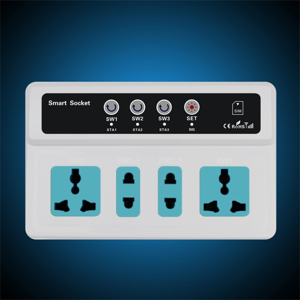 ФОТО Hot Promotion 3 Sockets Mobile Phone GSM SIM Remote Control Wireless Smart Socket Switch Hot New Arrival