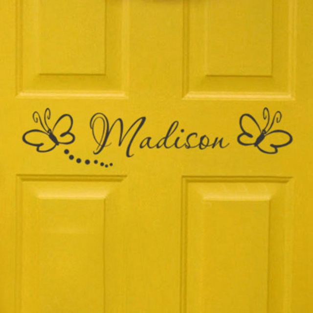 Free shipping childs room sign - Girls Bedroom Door Monogram with butterflies Personalized name vinyl wall  sc 1 st  AliExpress.com & Free shipping childs room sign Girls Bedroom Door Monogram with ...