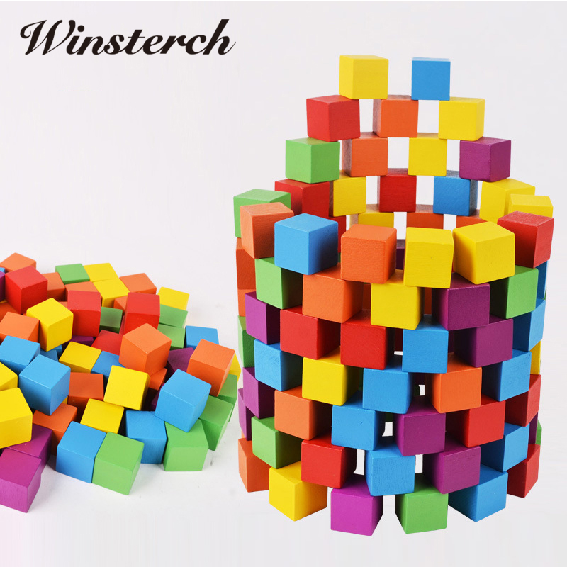 100pcs/set Creative Color Sort Rainbow Wood Blocks Kids Early Educational Wooden Enlighten Toys Gifts for Children Set ZS099 artkal beads 28 color with pegboards accessories box set perler mini beads plastic eva educational toys for children ca28