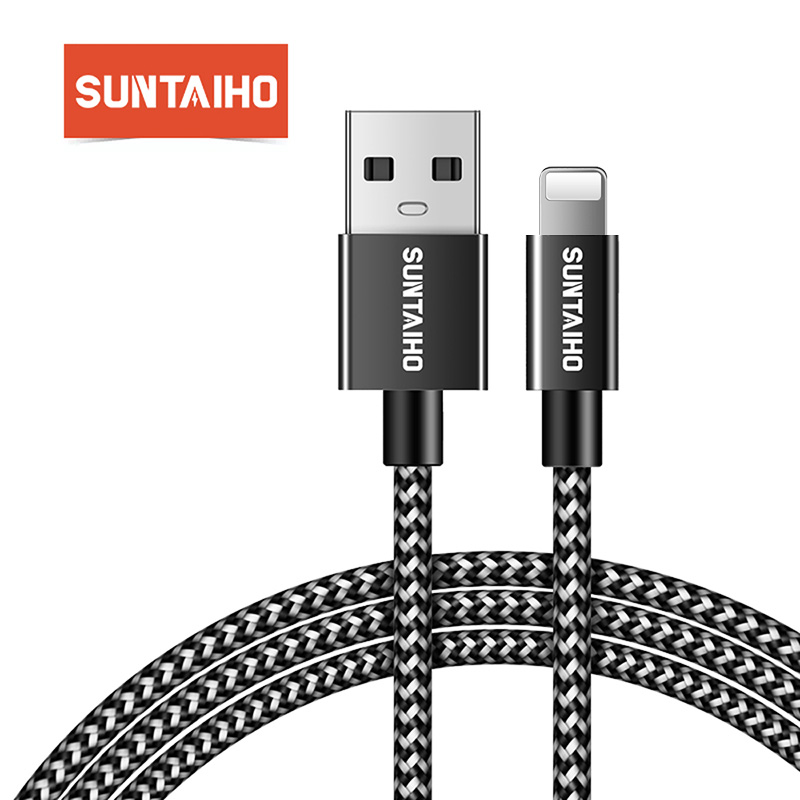 Suntaiho for iPhone XR XS MAX Fast Charging Nylon USB Cable for iPhone X 8 Cable USB Charging Date Cable for iPhone 7plus 6splus|usb cable for iphone|nylon braided usb cablecable for - AliExpress