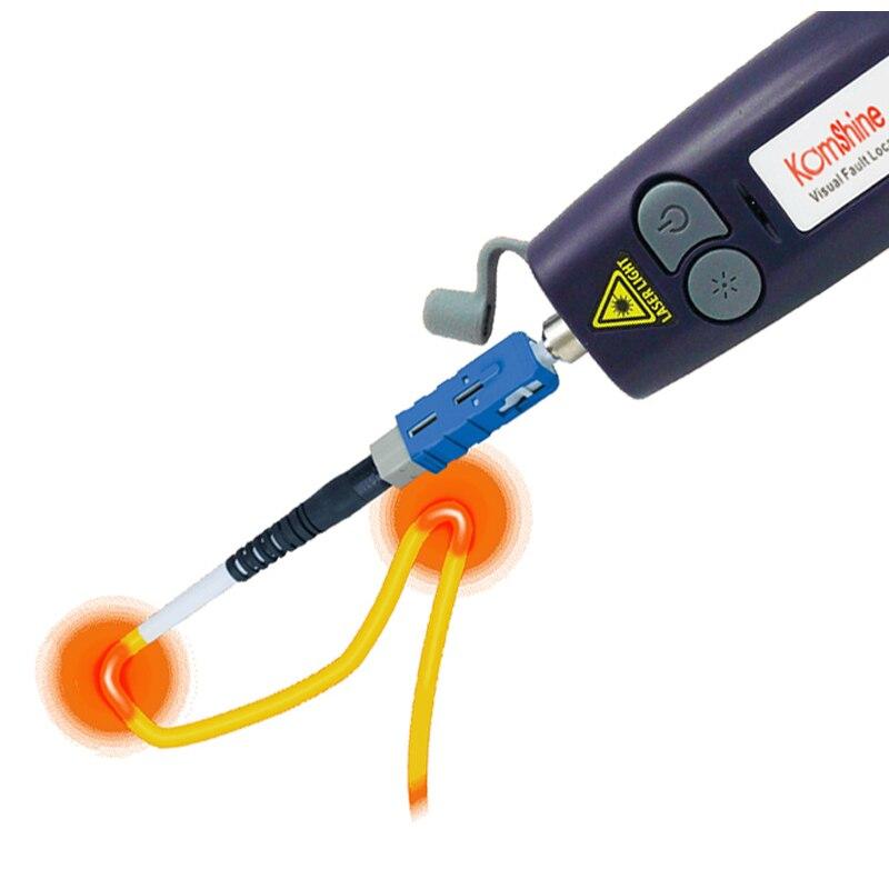 Komshine KFL-10 волоконно-оптический прибор для визуального определения повреждения прибор для тестирования 5/10/20/30MW тестер волоконно-оптического кабеля 10 мВт инструмента тестирования 650+ 10nm красная лазерная указка ручка