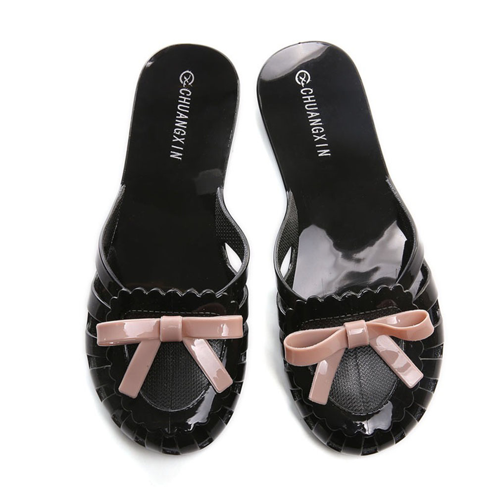 New Women Canvas Mule Slipper Flats Lace Up Close Toe Shoes Summer Slippers Chic