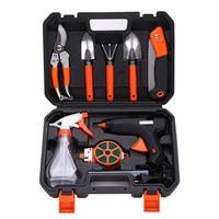 10pcs Set Gardening Tool Garden Shovel Rake Clippers Sprayer Portable For Farming Planting WWO66