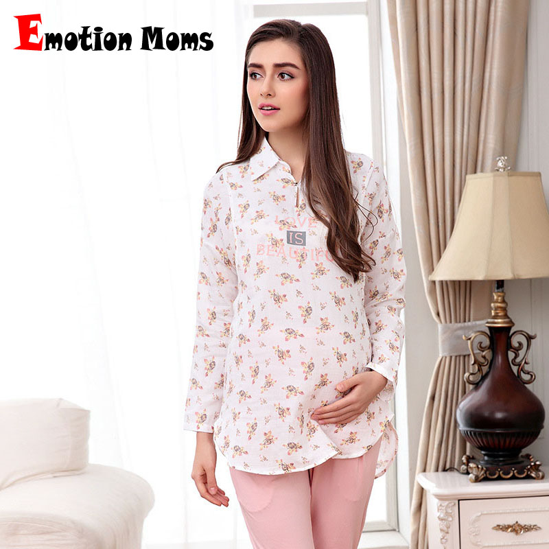 Emotion Moms Maternity Clothes Maternity Pajamas Sets Sleepwear for Pregnant Women Breastfeeding Clothes Nursing Sleepwear Sets