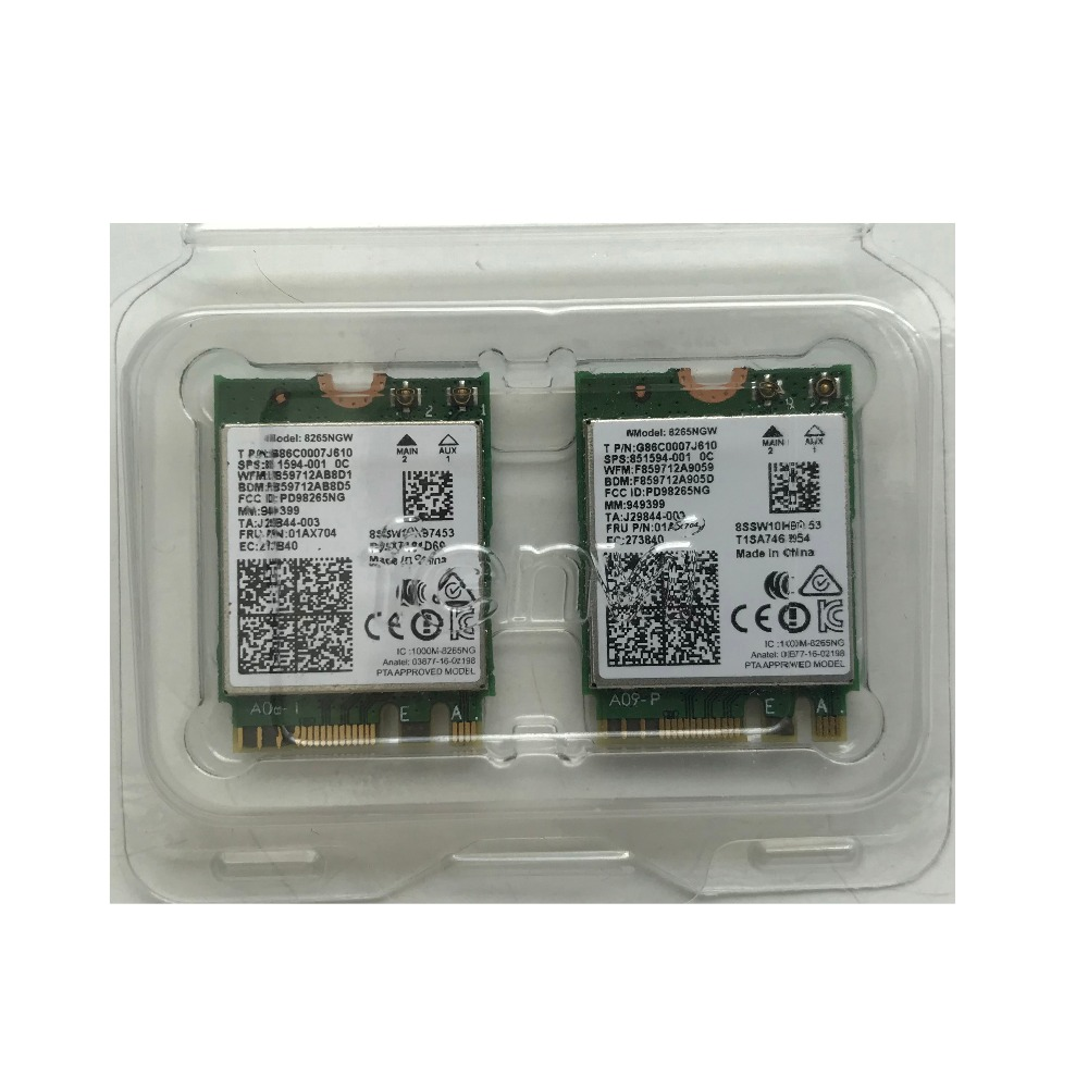 For Lenovo X270 T470 T570 E470 E570 8265ac 5G Wireless Network Card H93544-002 8265NGW 851594-001 01AX704(China)