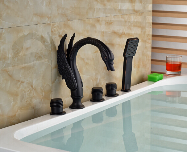 Oil Rubbed Bronze Modern Bathroom Tub Faucet Hand Vessel Sink Tap Mixer  Faucet