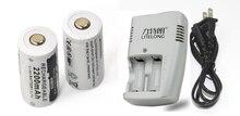 2 шт. высокое качество 3,7 В 2200 мАч CR123A литиевая аккумуляторная батарея + 1 выделенный зарядное устройство 16340 камеры