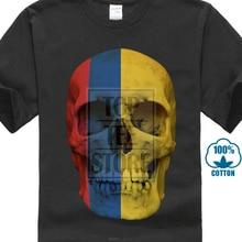 1f0fa5c7c Classic Colombia Skull Flag T Shirt Biker Mc Banner Shirt Sizes S 4Xl(China)