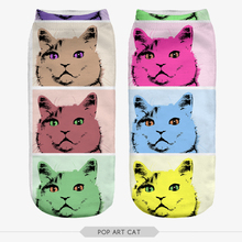 Harajuku Sock Fashion 3D Funny Fullprint Socks Unisex Cute Low Cut Ankle Socks Multiple Colors Sock Casual Animal Pattern Socks