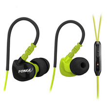 Fonge S500 Stereo Earphones Sport Running Headphones Super Bass Headset Waterproof IPX5 Earbuds HIFI Handsfree With Mic