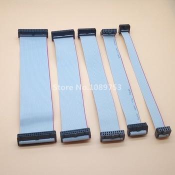 10 unids FC-10/14/16/20/34/40 p 2,54mm paso JTAG AVR descargar Cable de conector de Cable gris cinta plana Cable de datos 10 cm 20 cm 30 cm