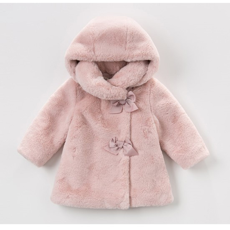 Baby Girls Winter Coat Kids Clothes Rabbit Fur Coat For Girls Jackets Baby Clothes Warm Parka Clothing For Girls Costume 1-4T 2017 winter new clothes to overcome the coat of women in the long reed rabbit hair fur fur coat fox raccoon fur collar