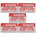 5 Pçs/set Aviso Protegido por Segurança 24 Horas Sistema Adesivos Sinais de Alarme Saftey Decalque Aviso Marca Negócio 9*5 cm Car Styling