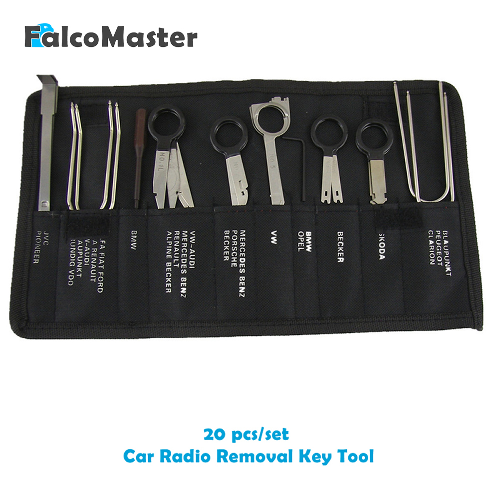 20 Pieces/kits Professional Automotive Interior Audio Stereo Car CD Player Radio Removal Keys Tool Set