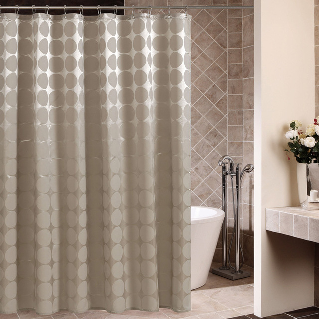 The New High Quality Polyester Cloth Shower Curtain Mocha Ball Spot