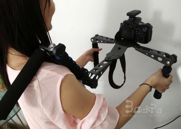 DSLR plate-forme Support d'épaule Support Support stabilisateur pour CANON S0NY DV GH3 5D mark II 5D mark III 6D 7D D300s D7000 D610 DSLR caméra